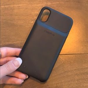iPhone 10SX Black Mophie Charging Case